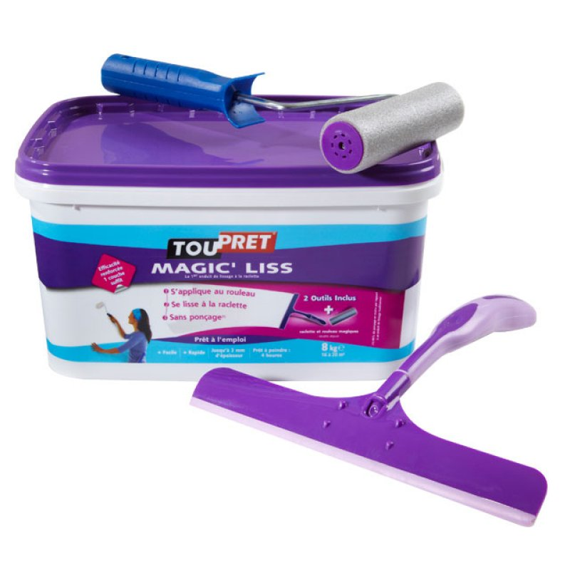Test enduit de lissage magic 39 liss - Preparation enduit de lissage ...