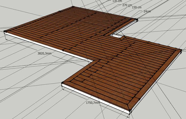 Modélisation d'une terrasse en bois