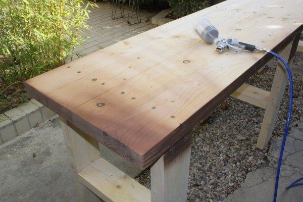 Brico fabriquer son tabli tape 2 le plan de travail - Construction etabli en bois ...