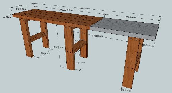 Tutoriel sketchup cr ation d 39 un tabli - Comment fabriquer un etabli ...