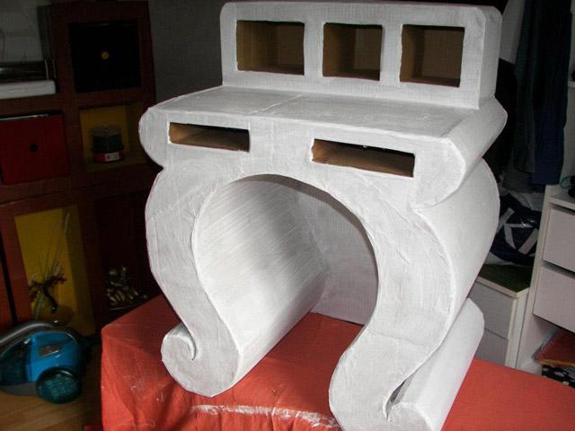 Cr ation de meubles en carton par c line for Tutoriel meuble en carton