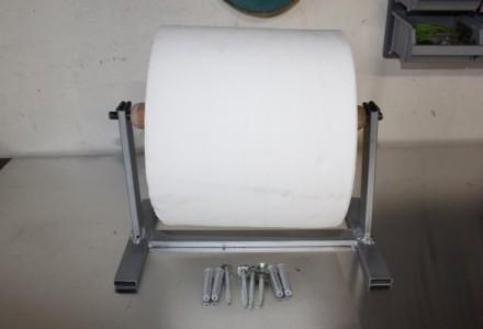 Mise en place du rouleau d'essuie-main