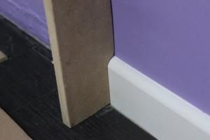 Découpe de la planche et test sur la plinthe
