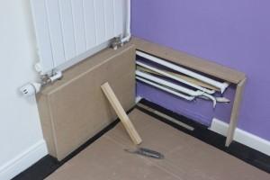 Pose d'un panneau latéral pour prise de mesure