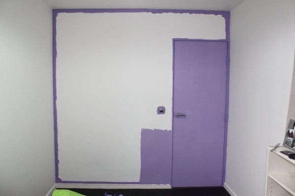 peindre les grandes surfaces avec le rouleau en tirant bien la peinture zonetravaux. Black Bedroom Furniture Sets. Home Design Ideas