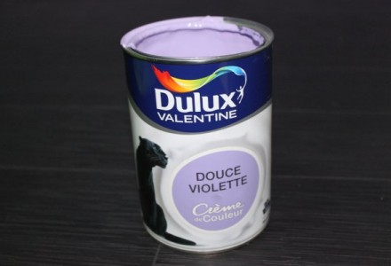 Peinture acrylique Dulux valentine crème de douceur - couleur Douce Violette