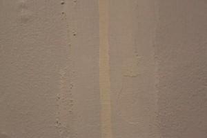Résultat du rebouchage avant ponçage au papier de verre fin