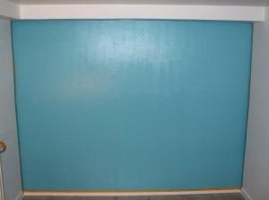 2 - Le mur pendant la peinture Dulux Valentine