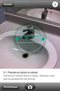 Prendre une photo de votre lavabo