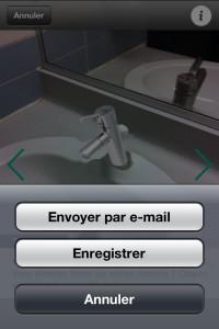 Sauvegarder ou envoyer votre photo