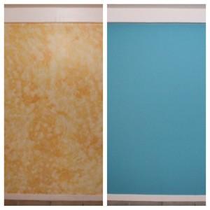 Avant / Après : Comparaison peinture de la chambre