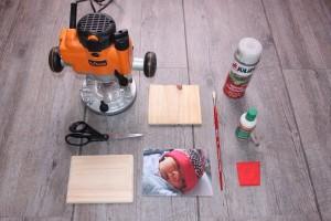Liste des outils et matériaux pour le transfert sur bois