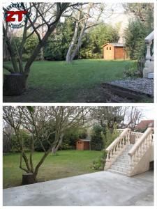 Terrasse - Avant après jardin