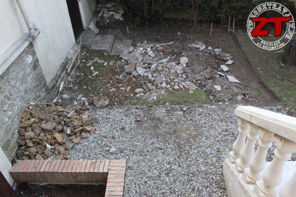 Terrasse - Préparation des bordures