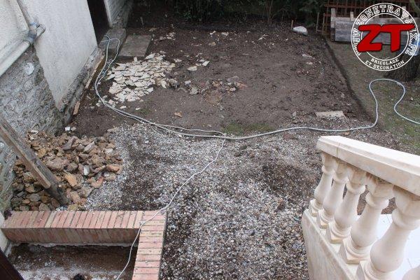 Terrasse - Nivelage du terrain