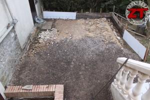 Terrasse - Préparation des coffrages