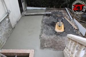 Terrasse - Mise en place du treillis acier et béton