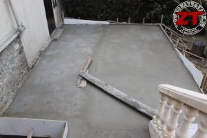 Terrasse - Coulage de la seconde partie de la dalle