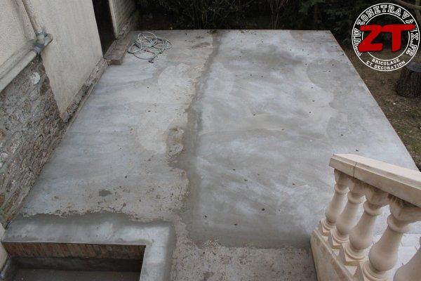 Terrasse - Dalle en béton terminée