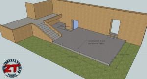 Terrasse en béton - modélisation 3D
