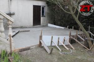 Terrasse - Coulage de la dalle en béton