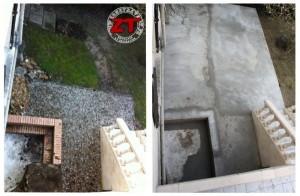 Terrasse en béton - avant / après