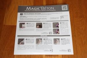 Test enduit décoratif Magic Béton TOUPRET