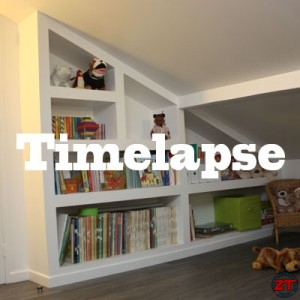 timelapse cr ation d 39 une biblioth que en placo. Black Bedroom Furniture Sets. Home Design Ideas