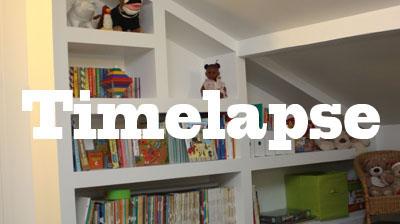 timelapse cr ation d 39 une biblioth que en placo zone. Black Bedroom Furniture Sets. Home Design Ideas