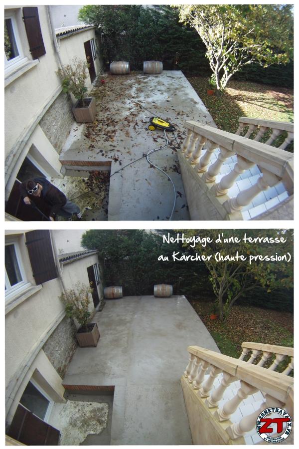 Avant / Après nettoyage terrasse