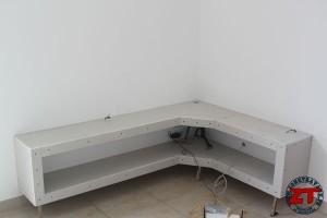 Tuto cr ation d 39 un meuble tv en placo zone travaux bricolage d coration outillage jardinage - Idee meuble tv a faire soi meme ...