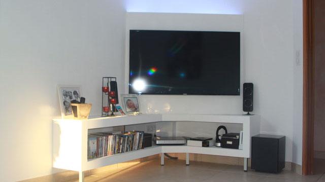 cr ation d 39 un meuble tv en placo tutoriel gratuit diy tutolibre. Black Bedroom Furniture Sets. Home Design Ideas