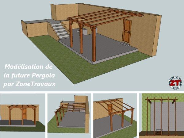 Pergola Dossier 2 Decoupe Et Installation Des Poteaux Et Pannes