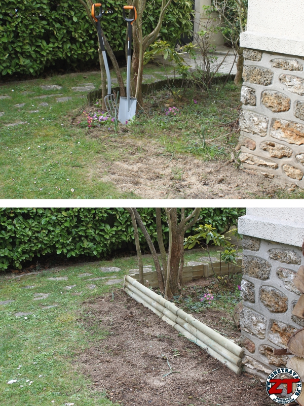 Tuto installer des bordures de jardin for Bordure jardin fait maison