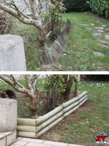 Bordure de jardin avant apres