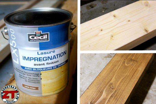 Pergola dossier 4 traitement et lasure de la pergola for Traitement bois avant peinture