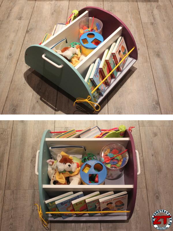 Cr ation diy fabriquer un meuble de rangement pour enfant for Construire un meuble de rangement
