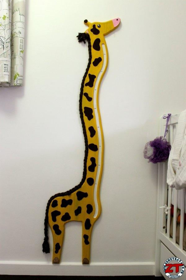 Créa Fabriquer une toise Girafe pour enfant Zone Travaux, bricolage, décoration, outillage  # Toise En Bois À Fabriquer