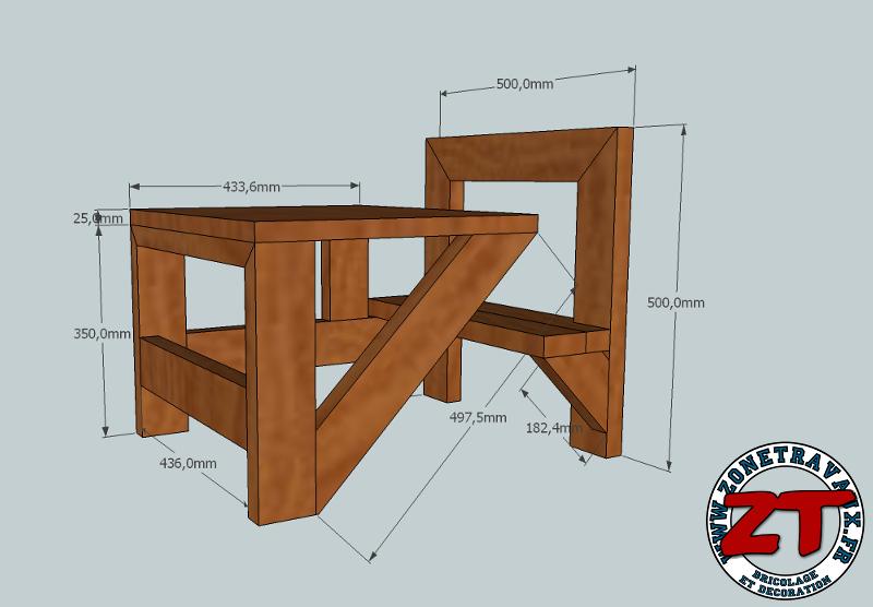 Cr ation fabriquer une table d 39 colier 1 2 - Plan de bureau en bois ...