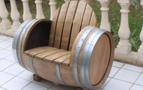 Chaise barrique fut