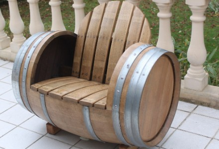 Chaise barrique fut