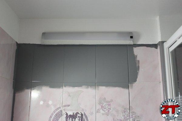 Tuto r nover une salle d 39 eau avec r sinence color - Renover salle de bain sans changer carrelage ...