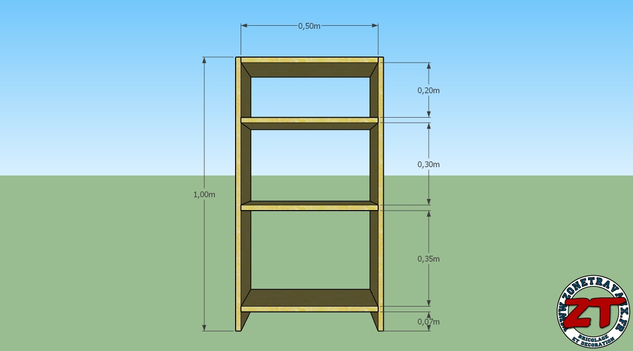 tuto fabriquer une tag re biblioth que. Black Bedroom Furniture Sets. Home Design Ideas