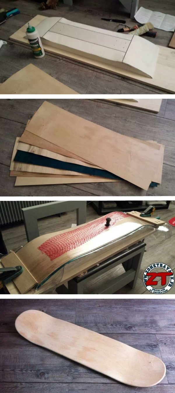 diy fabriquer une mini planche de skate tag re. Black Bedroom Furniture Sets. Home Design Ideas