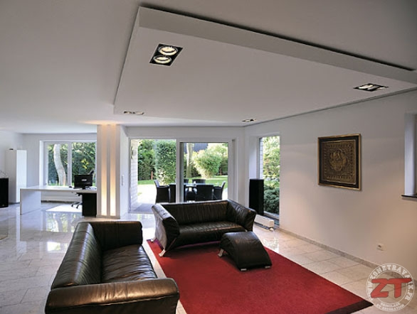 Brico cr ation d un faux plafond avec ruban led et spots for Fond plafond salon