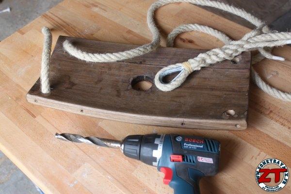 Cr a diy fabriquer une balan oire en f t de ch ne zone travaux bricolage d coration - Fabriquer une balancoire ...