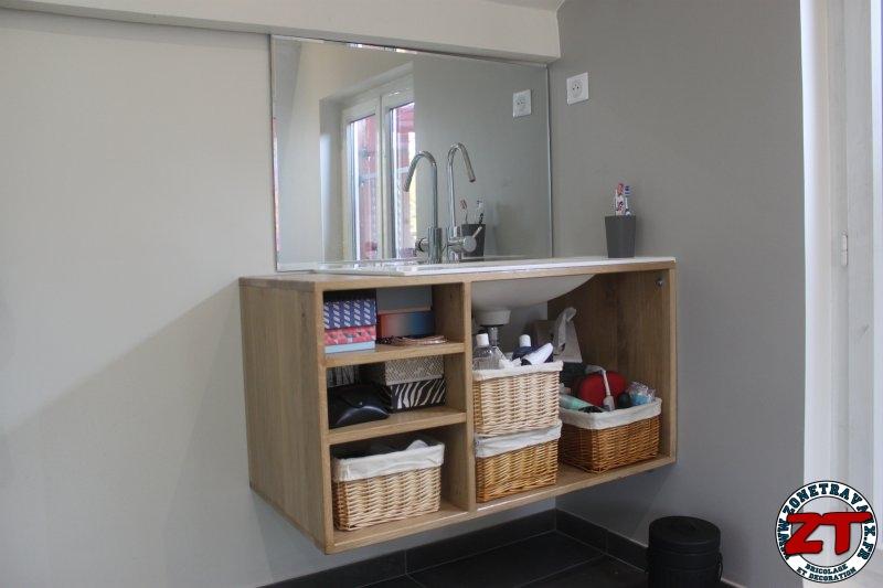 fabriquer meuble vasque salle de bain - Tuto Meuble Salle De Bain
