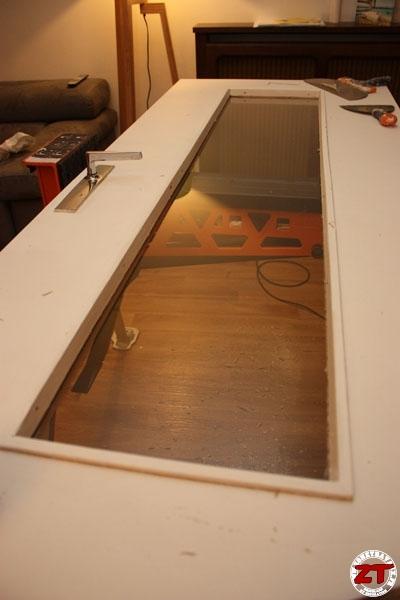tuto brico changer des vitres sur une porte int rieure. Black Bedroom Furniture Sets. Home Design Ideas