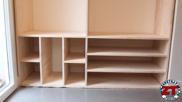 Cr ation r alisation d 39 un meuble d 39 entr e sur mesure en for Meuble bois massif sur mesure