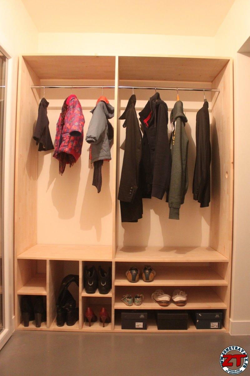 cr a r alisation d un meuble d entr e en bois sur mesure zone travaux bricolage d coration. Black Bedroom Furniture Sets. Home Design Ideas